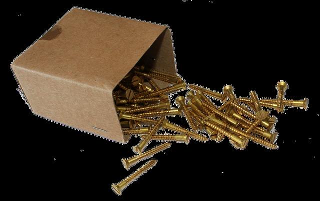 vruty v krabičce mosaz